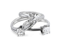 Δαχτυλίδια διαμαντιών Στοκ Φωτογραφία