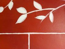Άσπρα χρωματισμένα φύλλα Στοκ εικόνες με δικαίωμα ελεύθερης χρήσης