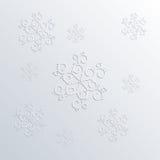 Άσπρα snowflakes στο γκρίζο υπόβαθρο Στοκ Εικόνες