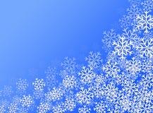 Άσπρα snowflakes ελεύθερη απεικόνιση δικαιώματος