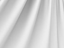 Άσπρες αφηρημένες πτυχές του υποβάθρου υφασμάτων σατέν μεταξιού υφάσματος Στοκ Εικόνες