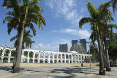 Άσπρες αψίδες Arcos DA Lapa Centro στο Ρίο ντε Τζανέιρο Βραζιλία Στοκ φωτογραφίες με δικαίωμα ελεύθερης χρήσης