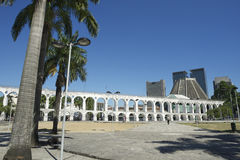 Άσπρες αψίδες Arcos DA Lapa Centro στο Ρίο ντε Τζανέιρο Βραζιλία Στοκ Φωτογραφίες