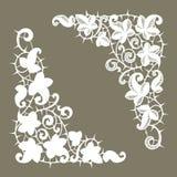 Άσπρες γωνίες δαντελλών αγκάθια σκιαγραφία ελεύθερη απεικόνιση δικαιώματος