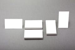 Άσπρες επαγγελματικές κάρτες Στοκ εικόνα με δικαίωμα ελεύθερης χρήσης
