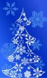 Άσπρες ερυθρελάτες με το χιόνι Στοκ εικόνα με δικαίωμα ελεύθερης χρήσης