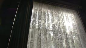 Άσπρες κουρτίνες παραθύρων φιλμ μικρού μήκους