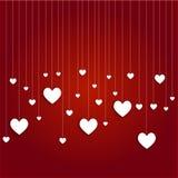 Άσπρες κρεμώντας καρδιές Στοκ εικόνες με δικαίωμα ελεύθερης χρήσης