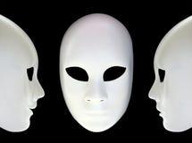 Άσπρες μάσκες Στοκ φωτογραφίες με δικαίωμα ελεύθερης χρήσης