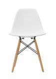 Άσπρες ξύλινες καρέκλες ποδιών που απομονώνονται στο άσπρο υπόβαθρο στοκ εικόνες