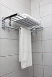 Άσπρες πετσέτες Στοκ εικόνες με δικαίωμα ελεύθερης χρήσης