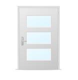 Άσπρες πόρτες με τις επιτροπές γυαλιού Στοκ φωτογραφία με δικαίωμα ελεύθερης χρήσης