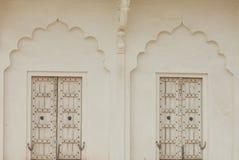 Άσπρες πόρτες οχυρών Agra Στοκ Φωτογραφίες