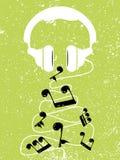 Άσπρες ρεαλιστικές σημειώσεις παιχνιδιών ακουστικών, διάνυσμα Στοκ Φωτογραφία