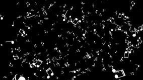 Άσπρες σημειώσεις για ένα μαύρο υπόβαθρο διανυσματική απεικόνιση
