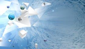 Άσπρες σπασμένες γεωμετρικές μορφές Στοκ εικόνα με δικαίωμα ελεύθερης χρήσης