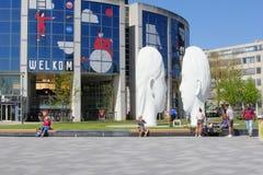 Άσπρες τέχνες αγαλμάτων προσώπων ανθρώπων, leeeuwarden, Κάτω Χώρες Στοκ Εικόνα