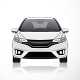 Άσπρη άποψη πηγών εικονιδίων αυτοκινήτων επίσης corel σύρετε το διάνυσμα απεικόνισης Στοκ φωτογραφία με δικαίωμα ελεύθερης χρήσης