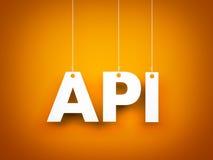 Άσπρη λέξη API στο πορτοκαλί υπόβαθρο νέο έτος απεικόνισης Στοκ φωτογραφίες με δικαίωμα ελεύθερης χρήσης