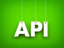 Άσπρη λέξη API στο πράσινο υπόβαθρο νέο έτος απεικόνισης Στοκ Εικόνες