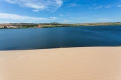Άσπρη έρημος αμμόλοφων άμμου στο ΝΕ Mui, Βιετνάμ Στοκ εικόνα με δικαίωμα ελεύθερης χρήσης