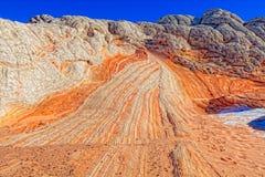 Άσπρη αγριότητα Αριζόνα απότομων βράχων τσεπών πορφυρή Στοκ εικόνες με δικαίωμα ελεύθερης χρήσης