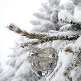Άσπρη ανασκόπηση Χριστουγέννων Στοκ Εικόνες