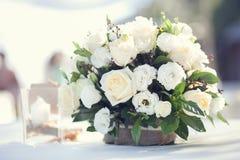 Άσπρη ανθοδέσμη λουλουδιών Στοκ Εικόνα