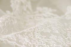 Άσπρη γαμήλια δαντέλλα Στοκ φωτογραφίες με δικαίωμα ελεύθερης χρήσης