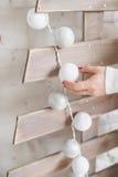 Άσπρη γιρλάντα Στοκ εικόνες με δικαίωμα ελεύθερης χρήσης
