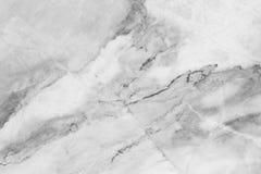 Άσπρη γκρίζα μαρμάρινη σύσταση, λεπτομερής δομή του μαρμάρου σε φυσικό που διαμορφώνεται για το υπόβαθρο και σχέδιο Στοκ Εικόνες