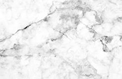 Άσπρη γκρίζα μαρμάρινη σύσταση με τις λεπτές γκρίζες φλέβες Στοκ Εικόνα