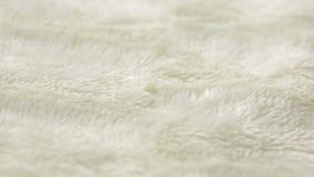 Άσπρη γούνα για το υπόβαθρο ή τη σύσταση γενικός θερμός φιλμ μικρού μήκους