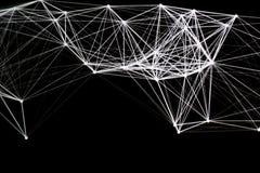 Άσπρη γραμμή λέιζερ στο σκοτεινό υπόβαθρο Στοκ φωτογραφίες με δικαίωμα ελεύθερης χρήσης