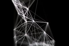 Άσπρη γραμμή λέιζερ στο σκοτεινό υπόβαθρο στοκ φωτογραφία