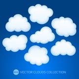 Άσπρη διανυσματική απεικόνιση σύννεφων Στοκ εικόνες με δικαίωμα ελεύθερης χρήσης