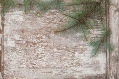Άσπρη εκλεκτής ποιότητας ξύλινη επιφάνεια Στοκ Εικόνες
