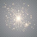 Άσπρη ελαφριά επίδραση έκρηξης διανυσματική απεικόνιση