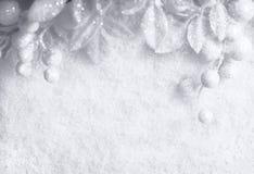 Άσπρη εποχιακή ανασκόπηση Χριστουγέννων Στοκ Εικόνα