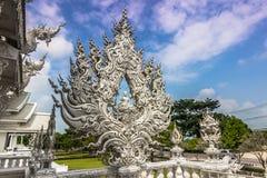 Άσπρη λεπτομέρεια ναών, Ταϊλάνδη Στοκ Εικόνες