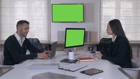 άσπρη εργασία συνεργατών ανασκόπησης απομονωμένη επιχείρηση απόθεμα βίντεο