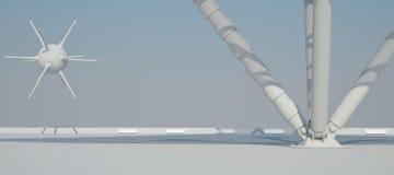 Άσπρη εσωτερική τρισδιάστατη απόδοση σχεδίου Στοκ Εικόνες