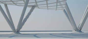 Άσπρη εσωτερική τρισδιάστατη απόδοση σχεδίου Στοκ Φωτογραφίες