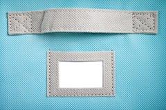 Άσπρη ετικέτα κιβωτίων αποθήκευσης Στοκ Φωτογραφίες