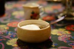 Άσπρη ζάχαρη Στοκ Φωτογραφίες