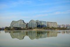 Άσπρη ζωτικότητα Plaza ξενοδοχείων Jianguo λιμνών αλόγων Στοκ φωτογραφίες με δικαίωμα ελεύθερης χρήσης