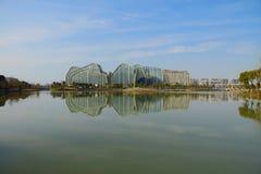 Άσπρη ζωτικότητα Plaza ξενοδοχείων Jianguo λιμνών αλόγων Στοκ Εικόνα