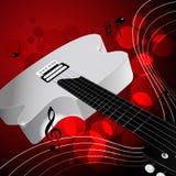 Άσπρη ηλεκτρική κιθάρα Στοκ φωτογραφία με δικαίωμα ελεύθερης χρήσης