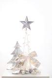 Άσπρη διακόσμηση Χριστουγέννων Στοκ φωτογραφίες με δικαίωμα ελεύθερης χρήσης