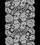 Άσπρη διανυσματική δαντέλλα Στοκ Εικόνες